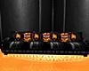 Blk/Orange Harley Sofa