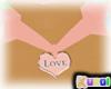 K! Pink love collar