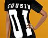 Cousin 01 Shirt Black F