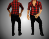 Black Red Flannel