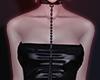 ☪ leather strapless b