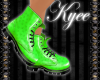 Green DM Ankle Boots