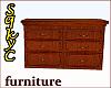 Large Brown Wood Dresser