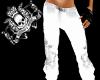 SK white skull pants F