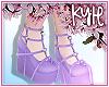 Purple Heart Heels