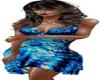 floral blue dress corset