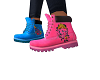 Blue & Pink Timbs