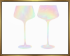 Pastel Wine Glasses