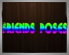 friends poses sign