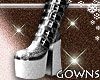 Shiny Boots Silver