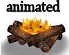 !Animated campfire logs