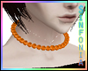 Pumpkin Orange Necklace