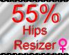 *M* Hips Resizer 55%