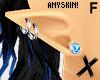 X F Elf Ears Blue