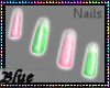 .:Pink&Green Nails:.