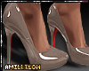 A.} Patent Leather-Taupe