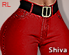 S, Red Jeans & Belt RL