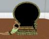 blk n gold slave throne