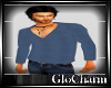 Glo* V~Neck KnitBlue