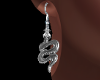 E* Snake Earrings