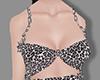 Leopard black chain top