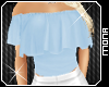 baby blue Cute Gypsy Top