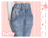 Scruffed Belt Jeans