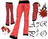pantalon mujer rojo