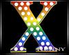 H. Rainbow Letter X
