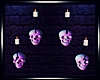 -S-Skull Wall Candles