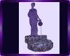 purple statue fountain