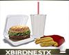 [B] Burger, Fries, Drink
