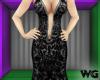 Silver Foil Gown Black
