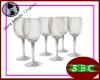 Wine Glasses (x6)