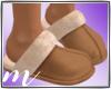 AM: Fur Slippers Tan