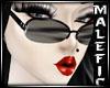 "M"" PVC Goth Glasses"