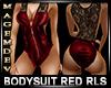 BODYSUIT RED RLS