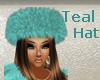 Ballroom Teal Hat