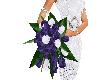 wedding bouquet violet