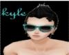 Black/Aqua raybans