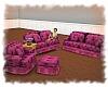 Pretty Pink Sofa Group