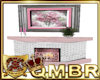 QMBR Fireplace Pink Rose