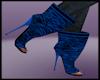 Zebra Blue Boots