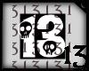 13 Skull White No Bg