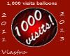 1000 visits Balloons