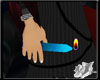 Hand Candle: Blue