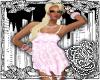 {E}Pink Polkadot Top