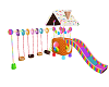 Scaled Kids Swing