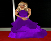 ball gown purple