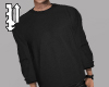 Black Rolled Crewneck